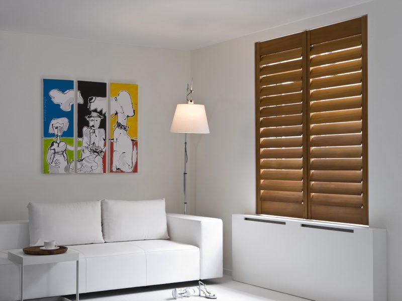 teak livingroom-shutters