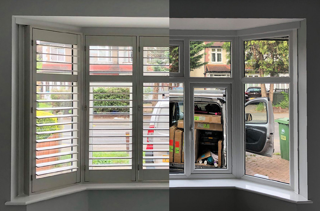 Bay Window Totally Shutters