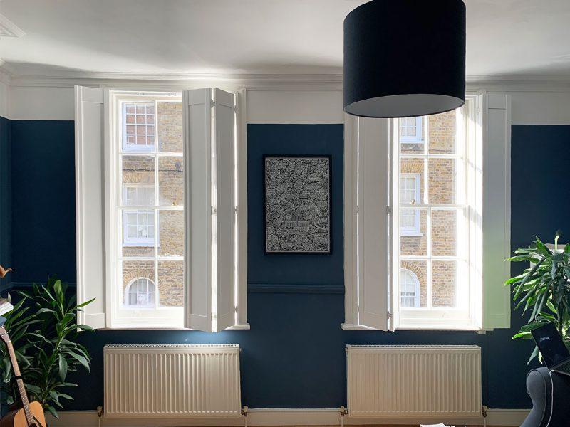 bespoke living room shutters