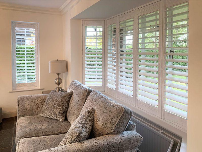 living room shutter blinds