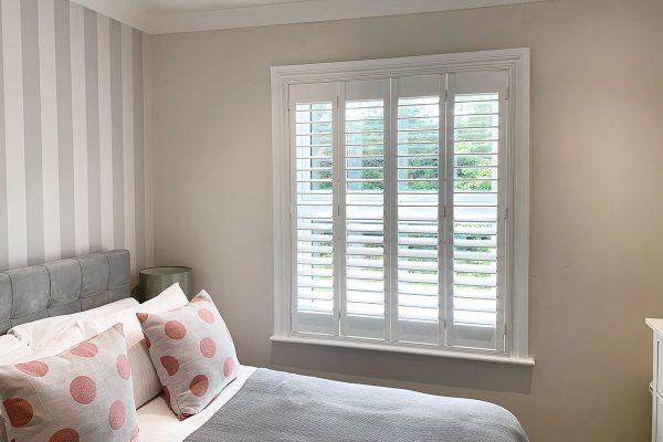 master bedroom plantation shutters