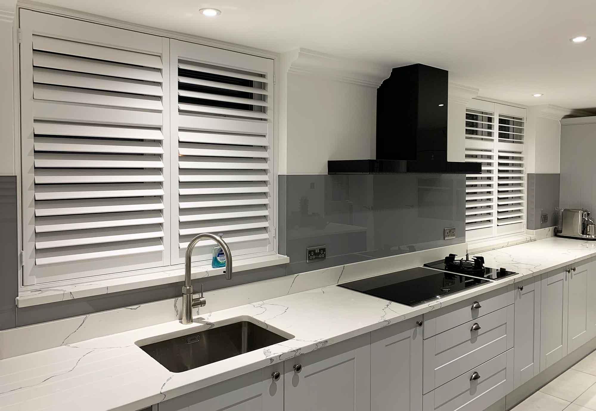 plantation shutters kitchen